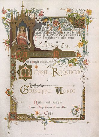 Requiem (Verdi) - First edition title page, Ricordi, 1874