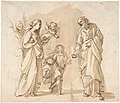 Return of the Holy Family from Egypt (recto); Studies for the Return from Egypt (verso) MET DP807805.jpg