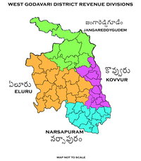 Revenue divisions map of West Godavari district.png