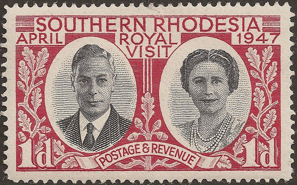 Rhodesie Sud timbre 1drouge 041947