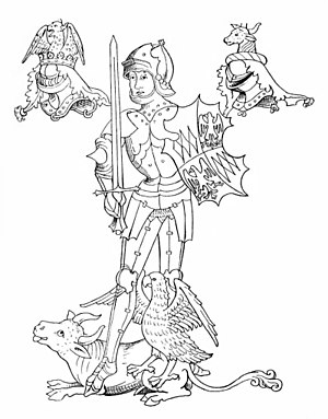 Richard Neville, 16th Earl of Warwick - Warwick, from the Rous Roll.