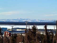 View of Richardson Mountains from Inuvik