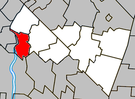 Location within Rouville Regional County Municipality.