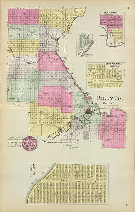 Townships in Riley County (1887)