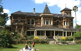 Polychrome - Rippon Lea Estate, in Australia has polychrome brickwork patterns.