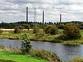 River Nene and Kings Dyke Brickworks Chimneys - geograph.org.uk - 1538272.jpg