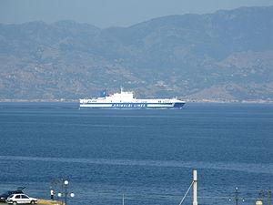 Ro-Ro ship Eurocargo Genova transiting the Strait of Messina - 20 July 2010 - (1).jpg