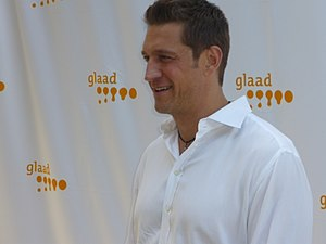 American actor Robert Gant at a GLAAD summer e...