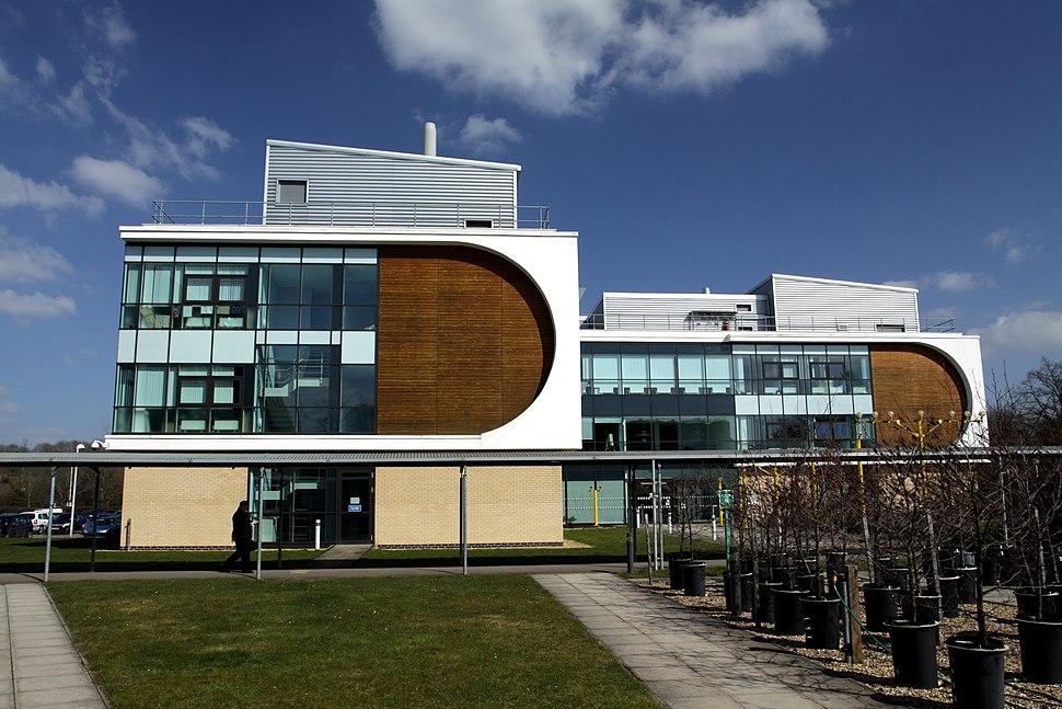 Robert Hook building at Open University Campus in Milton Keynes, spring 2013 (3)