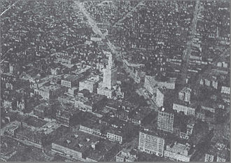 Robert Kurrle - Aerial photograph of Oakland, CA by Kurrle in 1913.