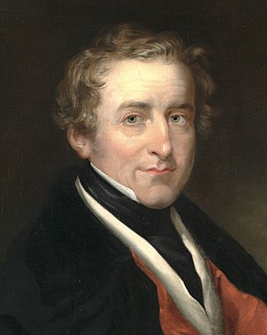 Leader of the Conservative Party (UK) - Image: Robert Peel by RR Scanlan detail