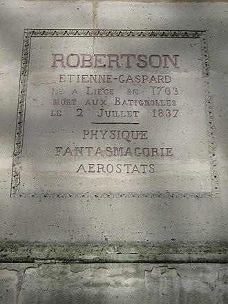 Étienne-Gaspard Robert - Image: Robertson 1