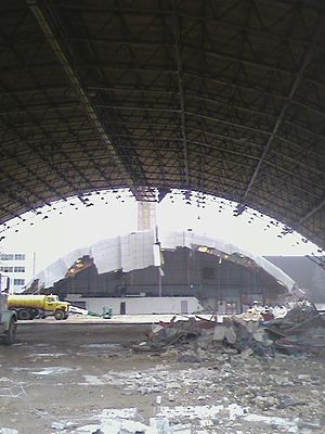 Robertson Memorial Field House - Demolition of the Field House, April 2008