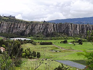 Bogotá savanna - The climber's paradise Rocas de Suesca form the northeastern boundary of the Bogotá savanna