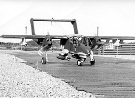 Rockwell OV-10A Bronco of VAL-4 at an airfield in Vietnam, in late 1969.jpg