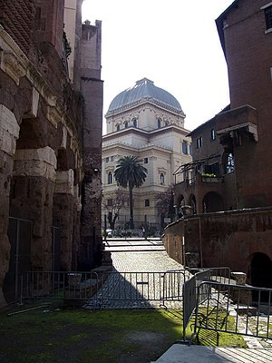 History of the Jews in Italy - The Great Synagogue of Rome.