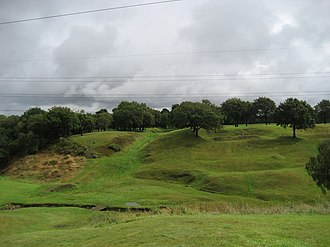 Rough Castle Fort - Image: Roman Fort and the Antonine Wall geograph.org.uk 1449013
