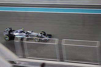 2015 Abu Dhabi Grand Prix - Nico Rosberg won the race for Mercedes.