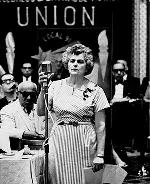 Rose Pesotta - Image: Rose Pesotta addresses the floor at the 1965 ILGWU convention, December 15, 1965. (5278921605)