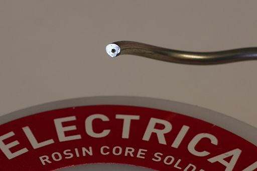 Types of solder: Rosin core electrical solder