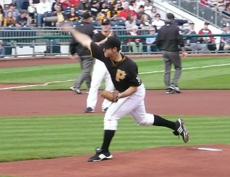 Ross Ohlendorf - Ohlendorf pitching for the Pittsburgh Pirates in 2009