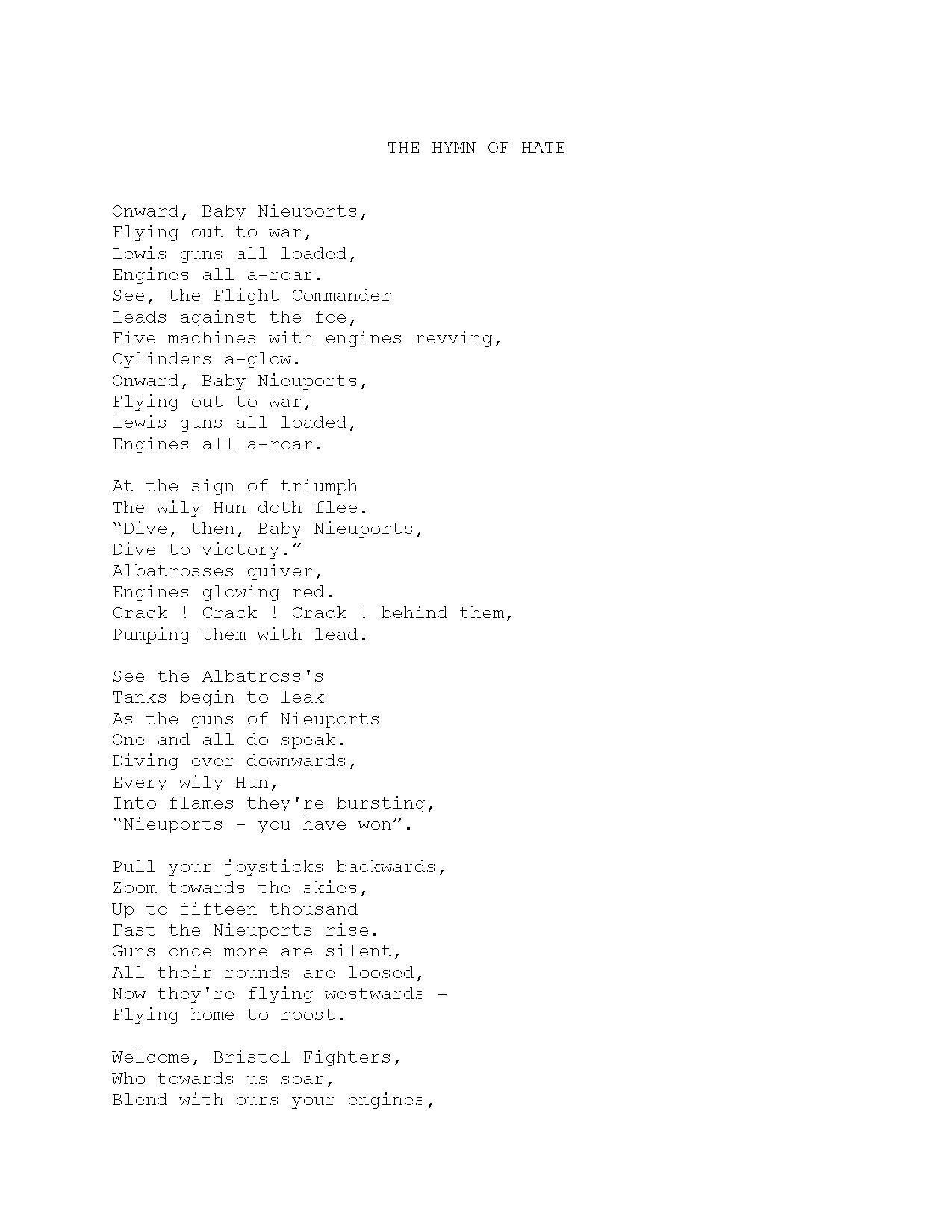 File Royal Flying Corps  U0026quot The Hymn Of Hate U0026quot   1918  Pdf