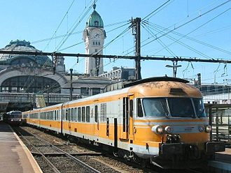 Turbine-electric transmission - Turbotrains were gas turbine trains built in France 1971–75 and supplied to SNCF, Amtrak and Iranian Railways.