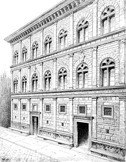 An analysis of the palazzo ruccelai