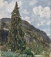 Rudolf von Alt - The old Spruce in Bad Gastein - Google Art Project.jpg