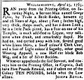 Runaway slave ad 1765.jpg