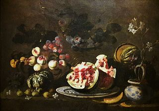 Still life with fruit (detail).