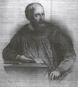Ruy González de Clavijo - An imaginary portrait of Ruy González de Clavijo, in a 19th-century engraving