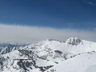 Jackson Hole Mountain Resort - A view looking south from the top of Rendezvous Bowl (March 2008)
