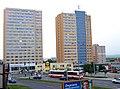 Sídliště Háje, výškové budovy Hlavatého, přes Opatovskou.jpg