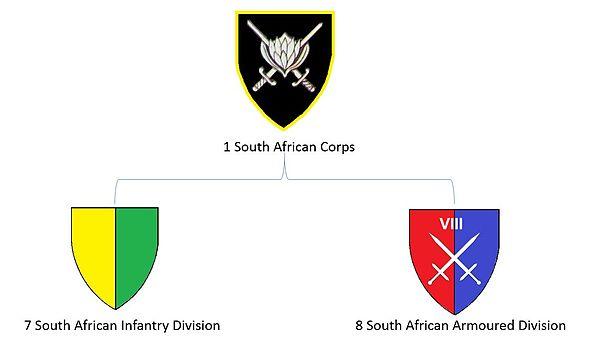 SADF 1 SA Corps structure