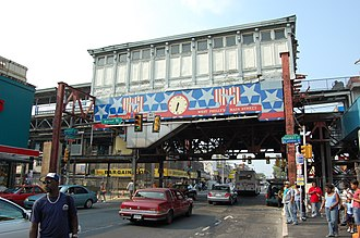 52nd Street station (Market–Frankford Line) - Image: SEPTA52nd Street Station Exterior 2007