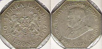 Sierra Leonean leone - Coat of arms