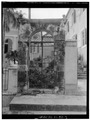 SOUTH SIDE OF GATE ON SOUTH SIDE OF CHURCH - Frederiks Lutheran Church, Norregade, Charlotte Amalie, St. Thomas, VI HABS VI,3-CHAM,11-3.tif