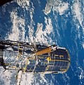STS-31 Hubble Space Telescope (HST) pre-deployment procedures aboard Discovery.jpg