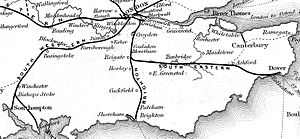 South Eastern main line - Railways in the south east that were built, authorised or under construction by 1840