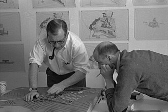 Kevin Roche - Roche (right) with Eero Saarinen in the 1950s