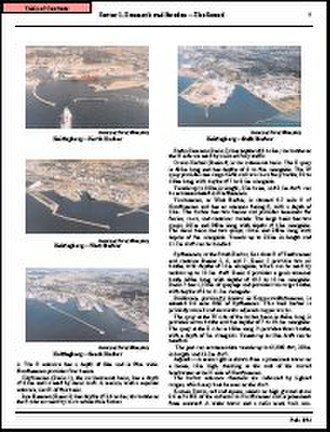 Navigator - This page from a Sailing Directions assists the navigator by providing pictures and descriptions of a harbor approach.