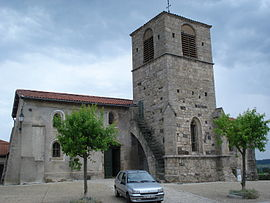The church in Saint-André-de-Chalancon