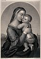 Saint Mary (the Blessed Virgin) with the Christ Child. Engra Wellcome V0033736.jpg