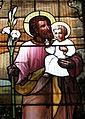 Saint Nicholas Catholic Church (Zanesville, Ohio) - stained glass, St. Joseph - detail, closeup.jpg