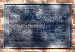 Ralph Sherwin - A plaque in his birthplace erected by the Sherwin Society