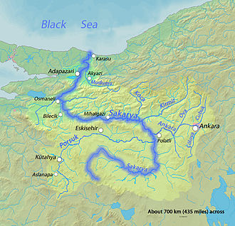 Battle of Sakarya - The battle took place along the Sakarya River around the vicinity of Polatlı, stretching a 62 miles long battle line.