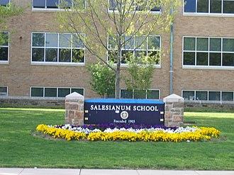 Salesianum School - Image: Salesianum front sign, May 2007