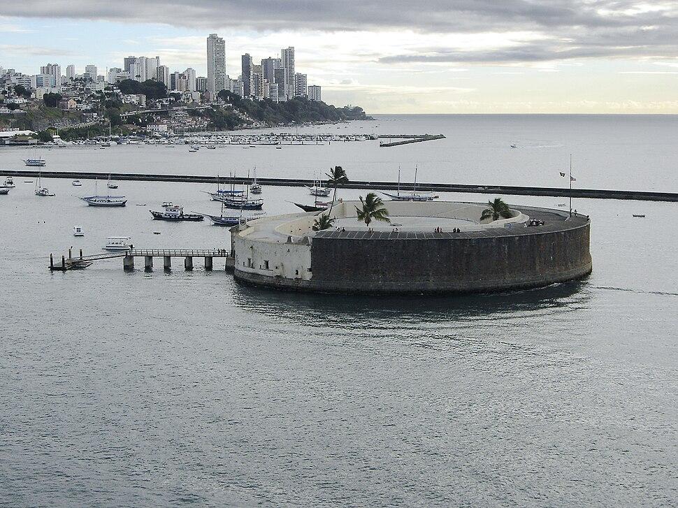 Salvador Sao Marcelo fort from sea 2