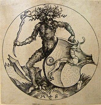 Wild man - Sammlung Ludwig - Artefakt und Naturwunder-Schongauer-Wilder Mann80410